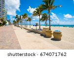 hollywood beach  florida   july ... | Shutterstock . vector #674071762
