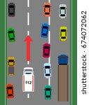 rescue alley highway   Shutterstock .eps vector #674072062