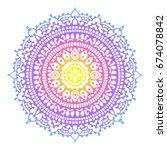 henna style traditional mandala....   Shutterstock .eps vector #674078842