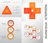 vector circle infographic set.... | Shutterstock .eps vector #674093056