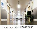 Corridor Interior Of Hospital....