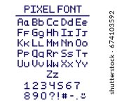 pixel font with numbers and... | Shutterstock .eps vector #674103592
