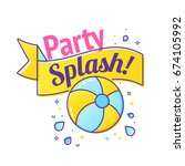 pool party label with... | Shutterstock .eps vector #674105992