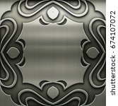 silver metal frame with classic ... | Shutterstock . vector #674107072