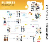 business infographics set with... | Shutterstock .eps vector #674109115