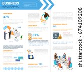 business infographics set with... | Shutterstock .eps vector #674109208