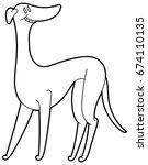 cute dog breed greyhound... | Shutterstock .eps vector #674110135