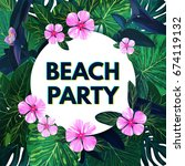 bright floral banner template... | Shutterstock . vector #674119132