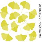 ginkgo biloba leaves | Shutterstock .eps vector #674120152