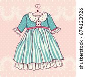 illustration of a festive dress.... | Shutterstock .eps vector #674123926