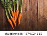 a bunch of carrots. carrots... | Shutterstock . vector #674124112