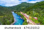 train oslo   bergen in... | Shutterstock . vector #674131012