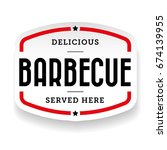 barbecue vintage label sign... | Shutterstock .eps vector #674139955