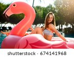young and sexy girl having fun... | Shutterstock . vector #674141968