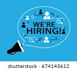 we are hiring   employment... | Shutterstock .eps vector #674143612