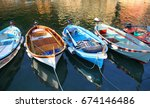 Colorful Boats Floating In The...