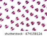 rhinestone bling background.... | Shutterstock . vector #674158126