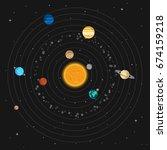 vector illustration. solar...   Shutterstock .eps vector #674159218