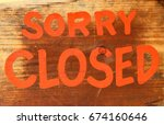 Small photo of Sorry Closed for Business