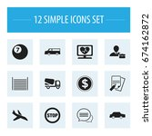 set of 12 editable mixed icons. ...