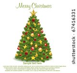 christmas tree. vector | Shutterstock .eps vector #67416331