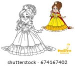 beautiful princess with a... | Shutterstock .eps vector #674167402