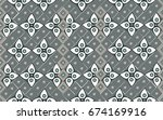 batik from java vector pattern | Shutterstock .eps vector #674169916