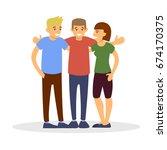 group of friends  flat... | Shutterstock .eps vector #674170375