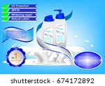 concept and idea advertising... | Shutterstock .eps vector #674172892