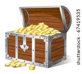 treasure chest. vector | Shutterstock .eps vector #67419535