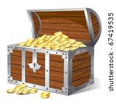 treasure chest. vector | Shutterstock .eps vector #67419535