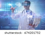 telemedicine concept with... | Shutterstock . vector #674201752
