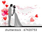 couple with festive balloons | Shutterstock .eps vector #67420753