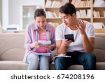 young family discussing family...   Shutterstock . vector #674208196