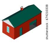 farmer house building isolated... | Shutterstock .eps vector #674210338