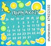calendar of august 2017. set of ...   Shutterstock .eps vector #674212132