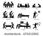 indoor club games and... | Shutterstock .eps vector #674213302