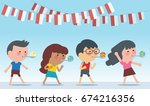 indonesia traditional special... | Shutterstock .eps vector #674216356