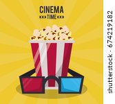 colorful poster of cinema time... | Shutterstock .eps vector #674219182