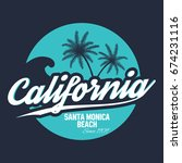 80s style surf sport typography.... | Shutterstock .eps vector #674231116