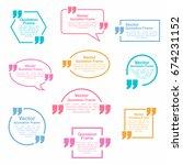 quotation. quotation speech... | Shutterstock .eps vector #674231152