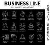 thin line icons set of business ... | Shutterstock .eps vector #674231806