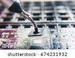 microchip technology | Shutterstock . vector #674231932