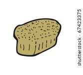 loaf of bread cartoon | Shutterstock .eps vector #67423375
