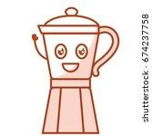 kitchen kettle kawai character | Shutterstock .eps vector #674237758