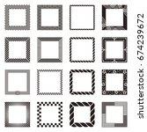 set of square border design.... | Shutterstock .eps vector #674239672