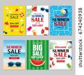 summer sale emails background...   Shutterstock .eps vector #674240938