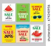 summer sale emails background... | Shutterstock .eps vector #674240956