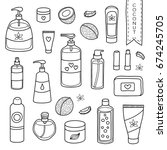 collection of hand drawn... | Shutterstock .eps vector #674245705