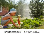 the boy makes a scarecrow in... | Shutterstock . vector #674246362